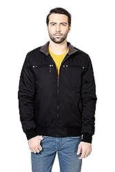 Peter England Black Regular Fit Jackets_EJK51600048_M