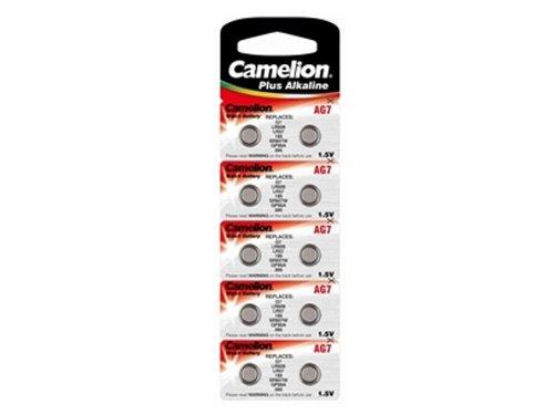 Camelion Uhrenbatterie AG7///; (395,399,SR927SW,SR57,LR926,LR57,195);10 Pack