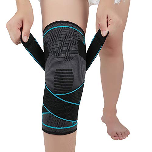 NTRH Knee Brace for Arthritis ACL and Meniscus Tear Adjustable Knee Sleeves for Sports Injury Rehabilitation & Protection Against Reinjury Knee Support for Men and Women L