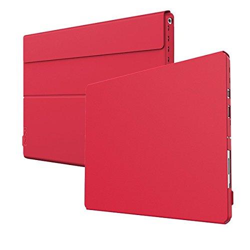 Incipio Faraday Advanced Case für Microsoft Surface Pro 4 - von Microsoft zertifizierte, smarte Schutzhülle [Kickstand Kompatibel | Type Cover Kompatibel | magnetisches Falt-Cover | Halterung für Surface Pen] - MRSF-094-RED