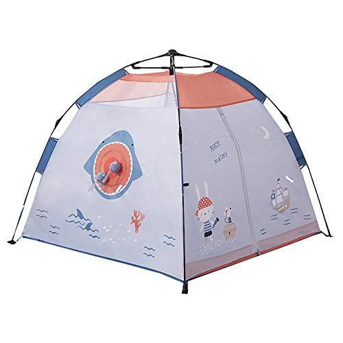Tent Rocket Ship Play House Yurt Girl Princess en el Interior with con un proyector con antorcha Espacial. Juegos de imitación