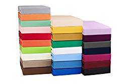 High quality jersey Topper fitted bedsheet Boxspring fitted bedsheets - 4 sizes and 25 colours - 100% cotton - ca. 130g/m² 200x220 cm pink
