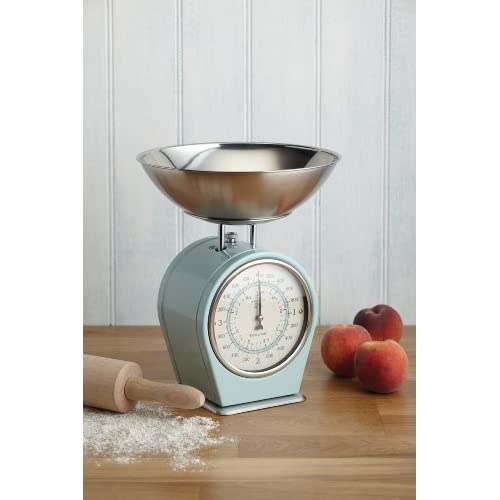 KitchenCraft Living Nostalgia Mechanical Duck Egg Blue Kitchen Scales