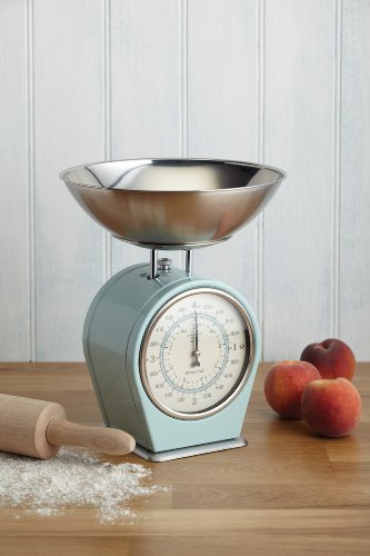 KitchenCraft Living Nostalgia Mechanical Duck Egg Blue Kitchen Scales