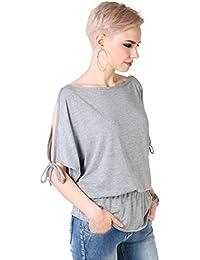 KRISP® Femmess Top Ample Uni Manches Chauve Souris Style Des Années 80