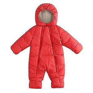 Proumy Kleidung Winter Warme Mantel Kapuzenjacke Kinderjacke Wintermantel Daunenjacke Baby Strampler Kinder Winter Dicke Winter Warme Overall Oberbekleidung