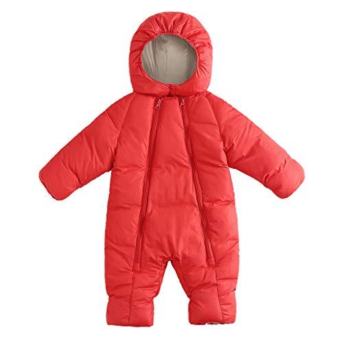 squarex ® Baby Wintermäntel Jacke Kid Zip Dicker Schneeanzug Hoodie Strampler Overall Mädchen Legerer Strampler Jungen Bequemer Overall -