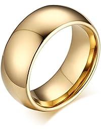 Vnox - Anillo altamente pulido de boda para hombre y mujer de carburo de tungsteno,