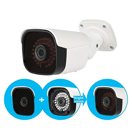 Evtevision 5MP AHD Kamera 4MP TVI/CVI überwachungskamera IR Nachtsicht Kugel Kamera IP66 Wetterfest im Freien/Indoor 100ft IR Entfernung Weitwinkel-Fit für 5MP AHD DVR 4MP TVI/CVI DVR und 960H DVR - Ge-dvr