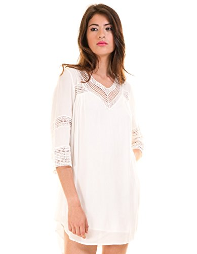 White tunic dress Vicarrie by Vila Clothes White