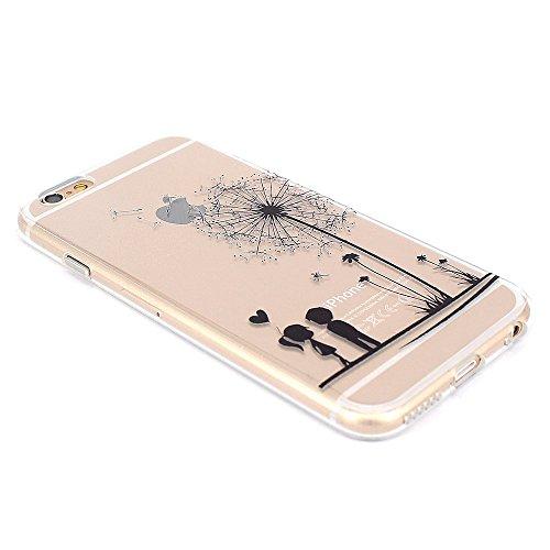 iPhone 6 Coque, JIAXIUFEN TPU Coque Silicone Étui Housse Protecteur pour iPhone 6 6S - Cat Music Swing Color21