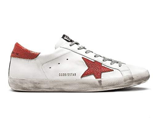 c844438d72 Golden Goose Scarpe Sneakers Uomo Vintage Superstar G32MS590.D90 Bianco  Rosso N. 40 EU - 6 UK