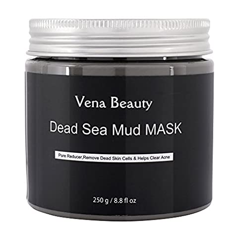 Dead Sea Mud Mask for Facial Treatment - Best Skin Cleanser, Pore Reducer and Minimizer by Vena Beauty 8.8 fl oz