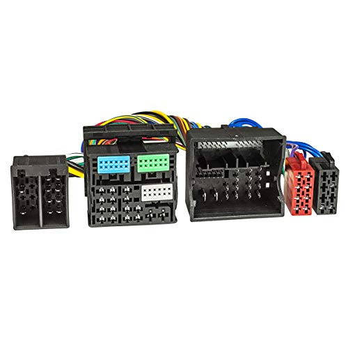 tomzz Audio 7303-001 T-Kabel ISO passend für Audi ab 2013, VW ab 2012, Seat ab 2012 Power Quadlock 52pin zur Einspeisung von Freisprecheinrichtung ISO Verstärker für THB Parrot Dabendorf i-sotec Match