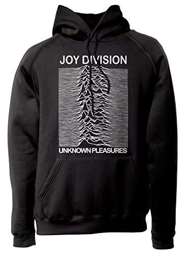 LaMAGLIERIA Unisex-Hoodie Joy Division - Unknown Pleasure - Kapuzenpullover Indie Rock Band, XL, schwarz -