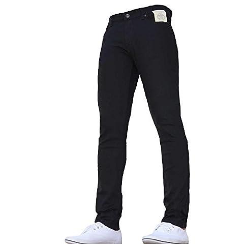 New Boys Kids Enzo Dark Designer Branded Skinny/slim Fit Denim Chino Jeans Black Age 11-12