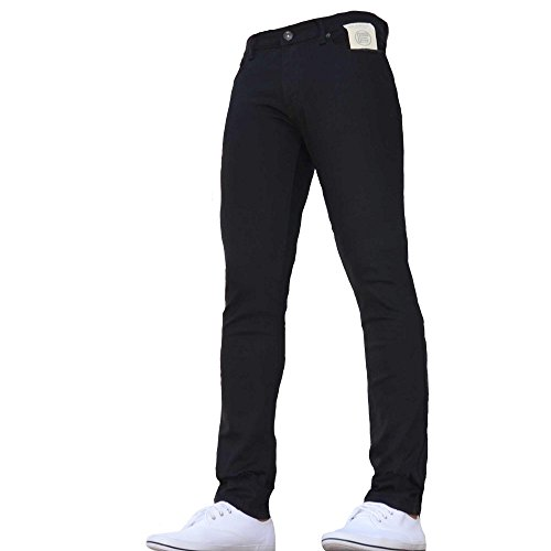 New Boys Kids Enzo Dark Designer Branded Skinny/slim Fit Denim Chino Jeans Black Age 11-12