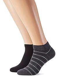 Tommy Hilfiger Th Men Washed Stripe Sneaker 2p, Socquettes et Chaussettes de Sport Homme, (lot de 2)