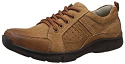 Action Shoes Mens Brown Leather Boat Shoes - 6 UK/India (40 EU)(NL-2107-LT)