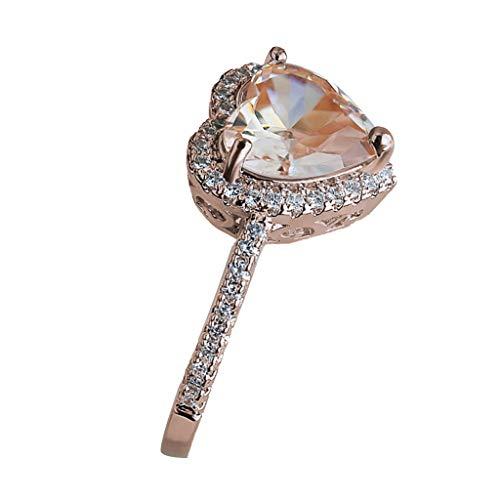 UINGKID Schmuck Damen Ring Ring-Schmuck der Art- und Weiseeinfache kreative Liebes-Hohle Diamantfrauen