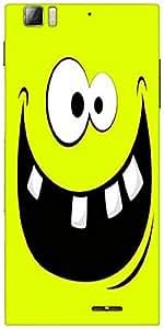 Snoogg Funny Broken Teeth Designer Protective Back Case Cover For Lenovo A6000