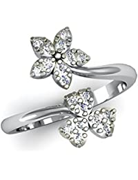 Meenaz Jewellery Valentine Adjustable Freesize Fancy Party Wear Stylish Ring Necklace Jewellery Set Silver Rings...