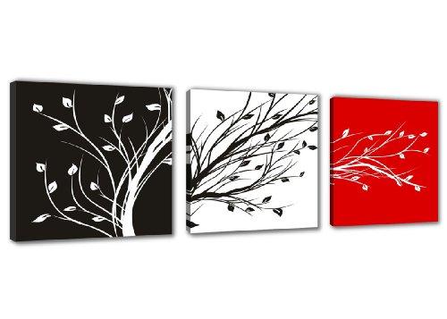 Cuadro de tres partes en Lienzo 150 x 50 cm Nr. 4211 abstracto enmarcado y listo para colgar, calidad de la marca Visario