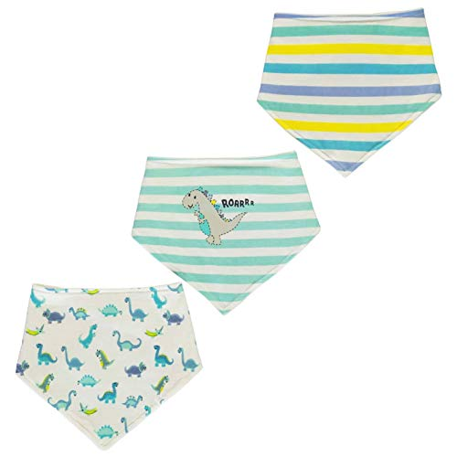 Crafted Mini Baby 3er Pack Lätzchen Spucktuch Baumwolle Blau Einheitsgröße -