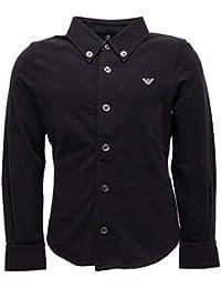 Armani 7101Y Camicia Maglia Bimbo Boy Junior Blue Jersey Shirt
