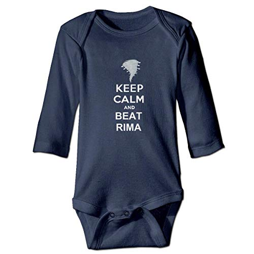Kostüm Beats Baby - WBinHua T-Shirts für Baby-Jungen,Keep Calm and Beat Irma Hurricane Storm Baby Toddler Long Sleeve Onesies Bodysuits