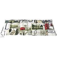 Körnerkissen Wärmekissen Dinkelkissen London 60x20 mit Schutzengel Schlüsselanhänger 100% Baumwolle