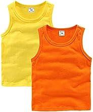 DCUTERQ niño bebé niños niñas sólido Tanque Tops Camisetas Camisetas algodón Verano Chaleco sin Mangas