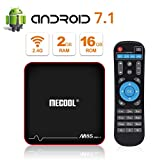 MECOOL M8S PRO W Android 7.1.2 TV BOX  2GB RAM/16GB ROM Amlogic S905W Quad Core, Migliore Interfaccia Utente Android, Lettori Multimediali Internet HD 4K