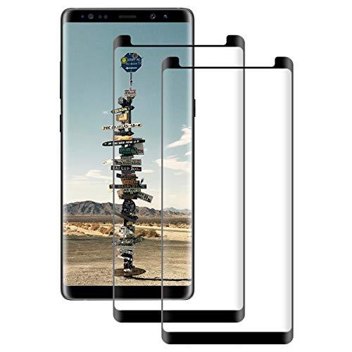 DOSNTO [2 Pack Panzerglas Bildschirmschutzfolie Kompatibel mit Samsung Galaxy Note 8 3D Glas Panzerglasfolie High Sensitive Anti-Kratzer Blasenfreie Starke Klebefolie Blendschutz