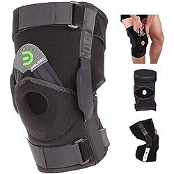 DISUPPO Verstellbare Kniebandage für Frauen Männer, Offene Patella stabilisierte Einstellbare Unterstützung für Sport Trauma, Verstauchungen, Arthritis, ACL, Meniskus Tränen, Bänder Verletzungen
