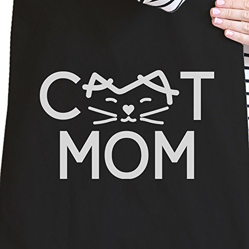 365 Printing inc , Borsa da spiaggia  Donna MamaBird - Black Cat Mom - Black