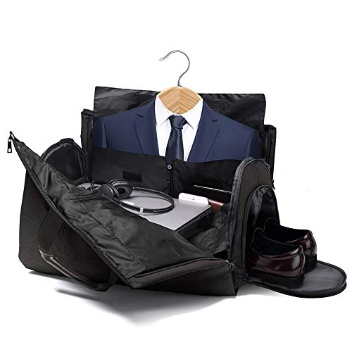 3449d41a71 SUVOM Suit Travel Bag Suit Bag Carrier Luggage Change to Travel Duffel Bag  for Men Women