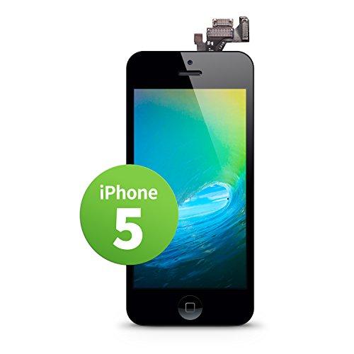 GIGA Fixxoo iPhone 5 LCD Touchscreen Retina Display Ersatz in Schwarz für Einfache Reparatur, FaceTime Kamera, 100% Kompatibel mit Apple (kein Set)