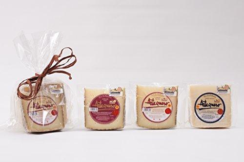 Pack Artequeso - 3 Cuñas de Queso Manchego D.O.P. 250 gr. c/u (Semicurado, Curado y Añejo)-Manchego Artesano D.O.P. - Producción Artesana