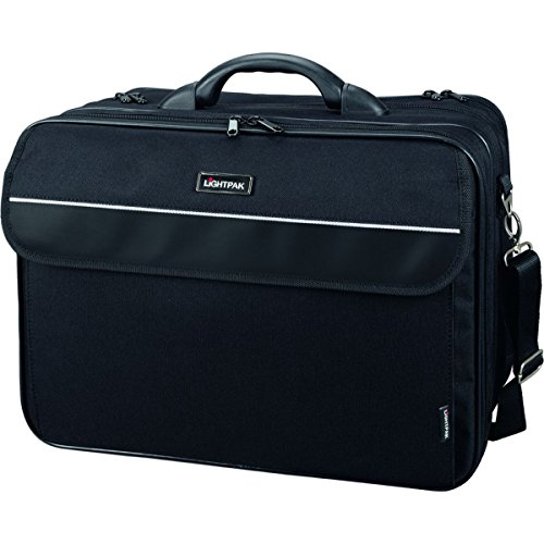 Business Cases Aktentasche Aktenkoffer (Lightpak 46075 - Multifunktionstasche Corniche, aus Nylon, schwarz)