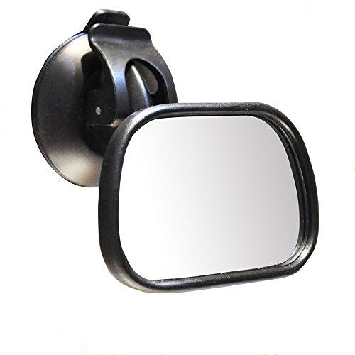 Sotica Rücksitzspiegel für Babys Easy View Rückspiegel für Baby schalen drehbar (black) (black)