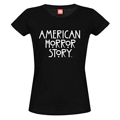 American Horror Story Damen T-Shirt Logo Baumwolle Schwarz - S