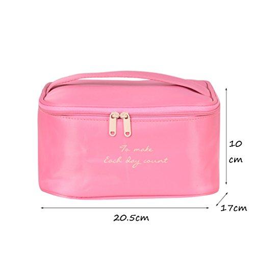 CLOTHES- Sacchetto cosmetico di viaggio sacchetto di immagazzinaggio ad alta capacità sacchetto cosmetico portatile multifunzione sacchetto di lavaggio separato ( Colore : Cielo blu ) Rosa