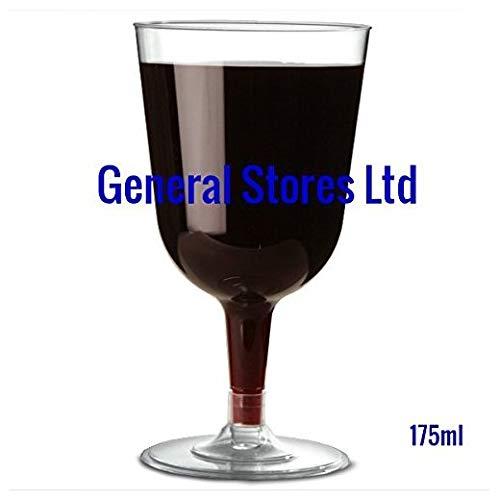 GSL® Lot de 32 verres à vin jetables en plastique Transparent 175 ml - Parfait pour toute fête