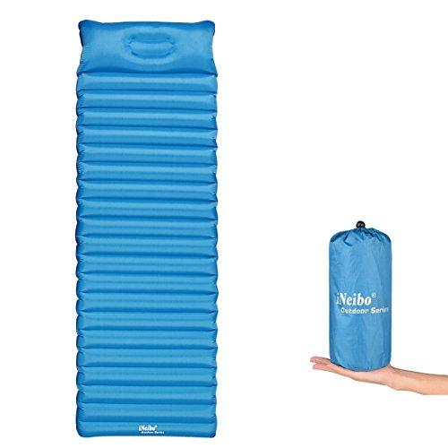 Colchón Inflable camping iNeibo Antiescaras Colchoneta hinchable ligero Neumático e impermeable (Blue)