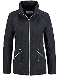 9a61c0c25c162d Gerry Weber Damen Übergangsjacke Jacke mit Paspeldetails Sportive Qualität  unifarben figurumspielend Stehkragen, versteckte Kapuze