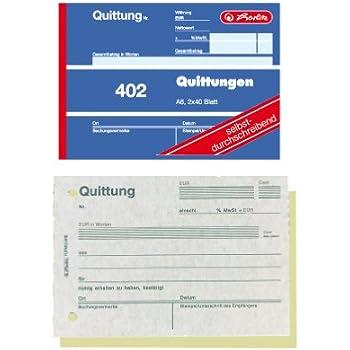 Sigel Sd1205 Quittungsblock Für Kleinunternehmer A6 Quer 2x30