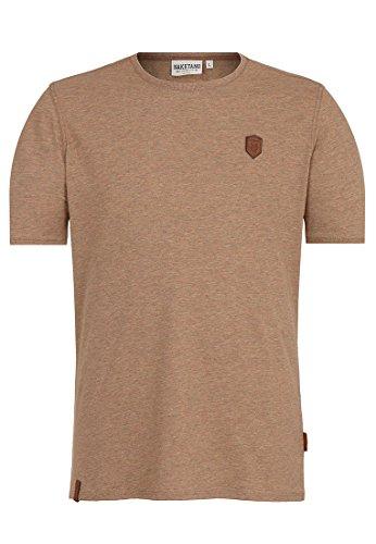 Naketano Male T-Shirt Italienischer Hengst Dünnschiss Kotze Melange, S