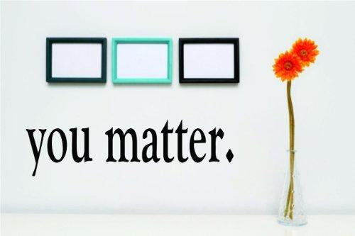 & inspirierende Zitate-VINYL WALL Aufkleber-Farbe: schwarz Größe: 12,7x 25,4cm ()