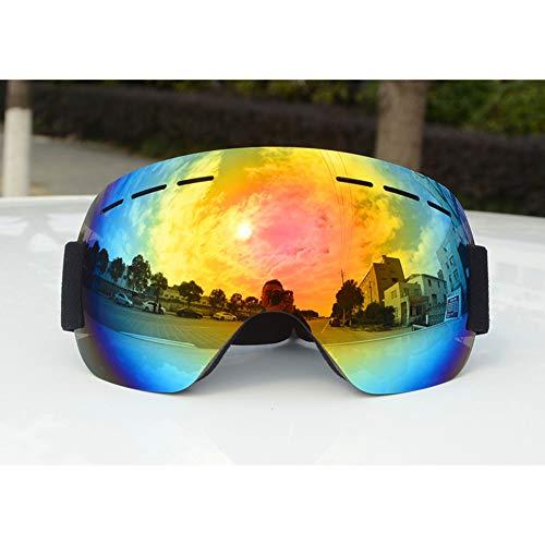 LFF SPORT Ski-Sonnenbrillen Anti-Fog UV-Schutz Skibrille rahmenlose PC-Objektiv Sphärische Wide View für Damen und Herren Sportbrillen,E